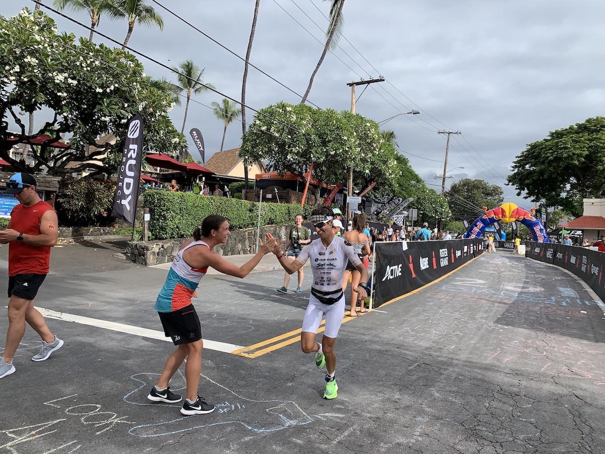 gurutze frades en el triatlón ironman de kona hawaii