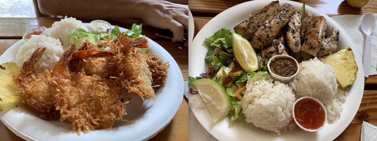 hawaii food post triatlón kona