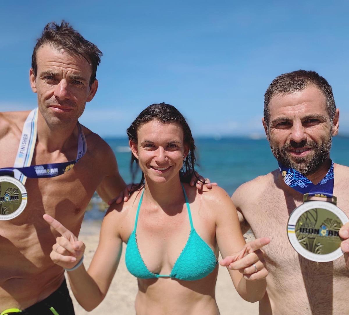 post finisher triatlón ironman kona hawaii